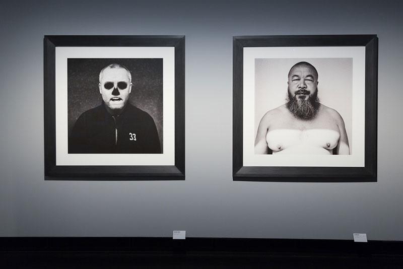 Expo Anton-Corbijn: Damien Hirst & Ai Weiwei  Photo Didier Laget