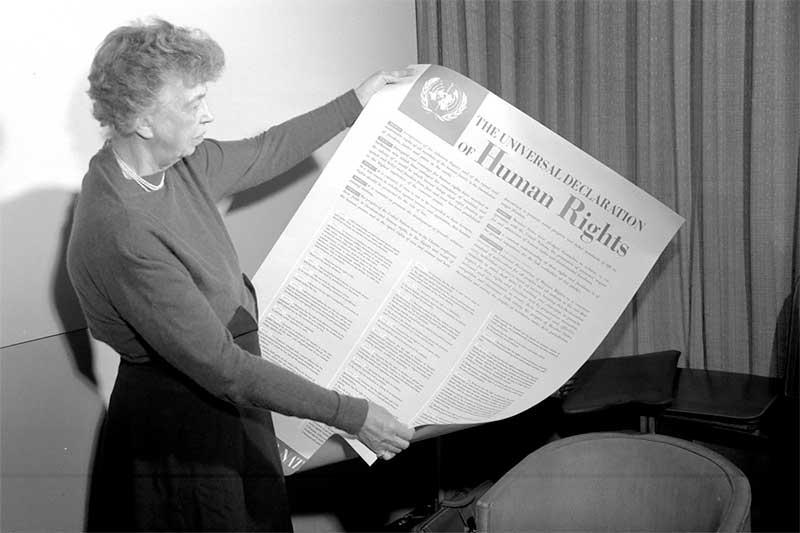 Declaration-universelle-des-droits-de-l-Homme - Photo Wikipedia