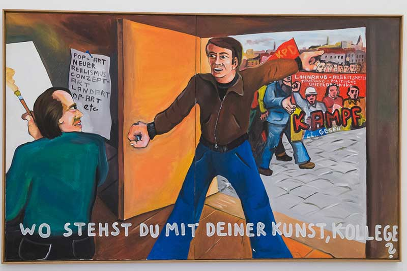 Jeorg-Immendorff-wo-stehst-du-mit-deiner-kunst-kollege A berlin - Photo copyright Didier Laget