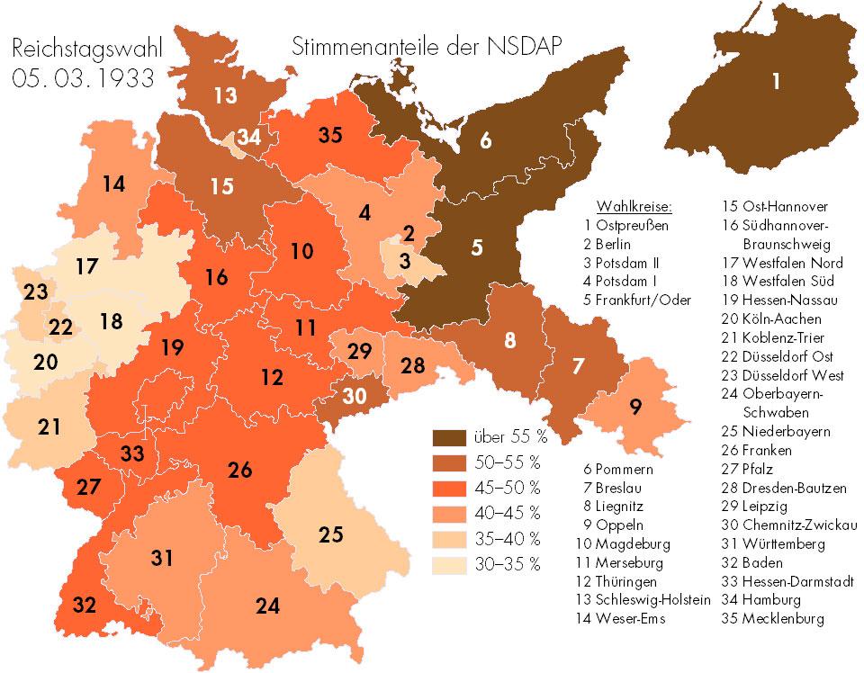 1933 vote pour les Nazis