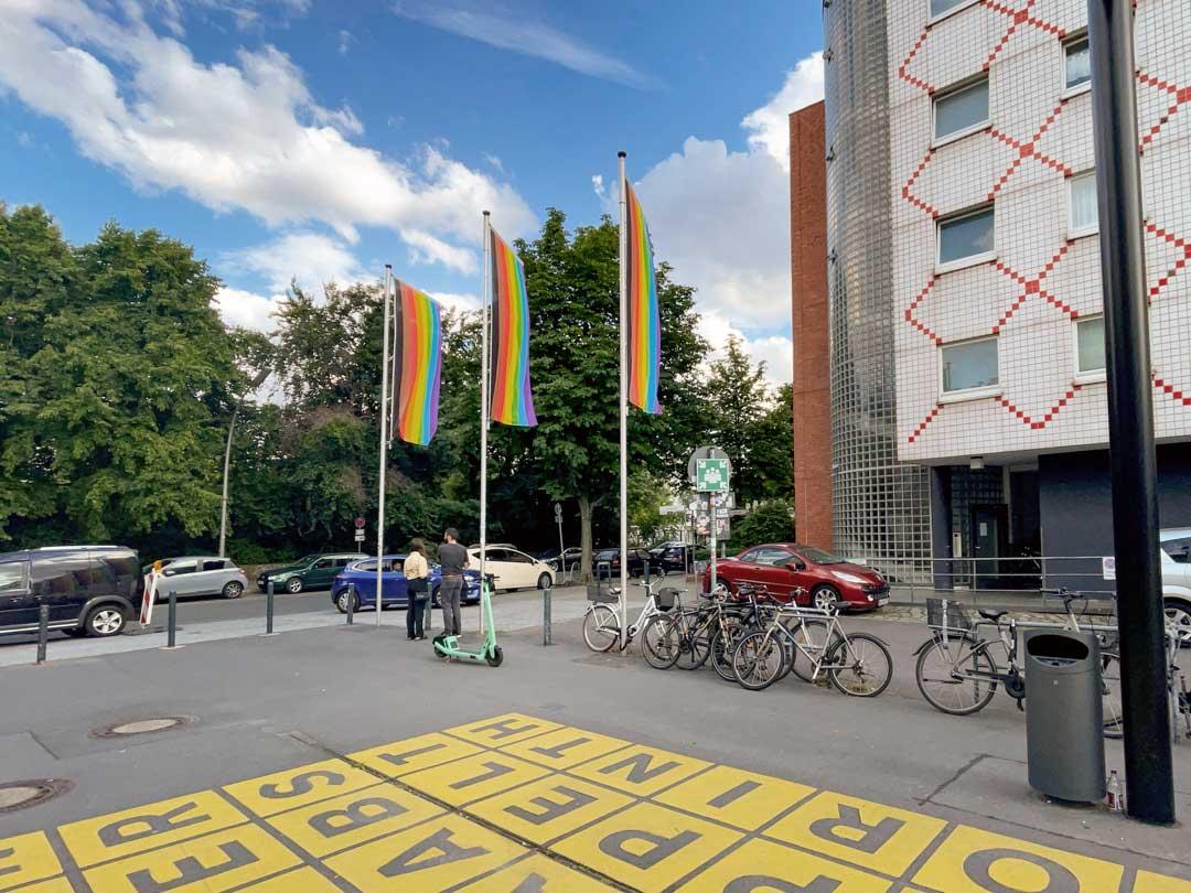 arc en ciel sur la Berlinische galerie