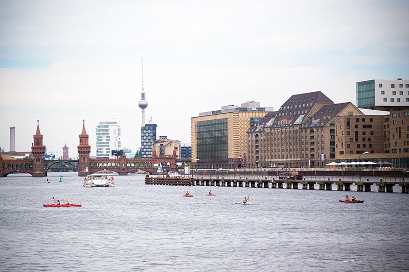 Berlin panorama Spree  - Photo copyright Didier Laget
