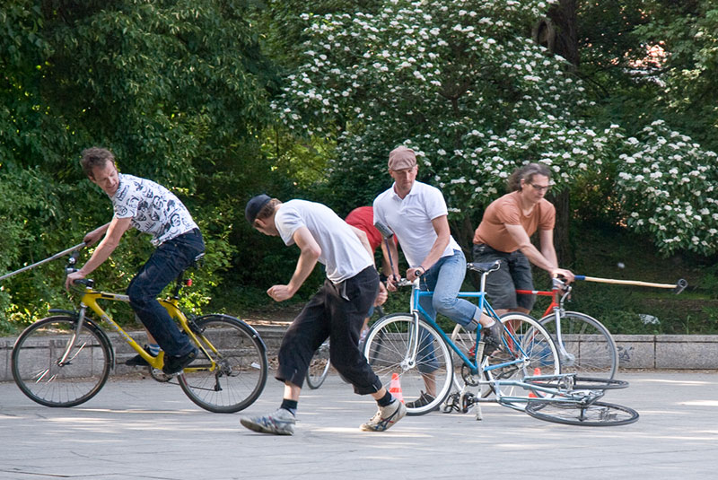 Bike-Polo A berlin - Photo copyright Didier Laget