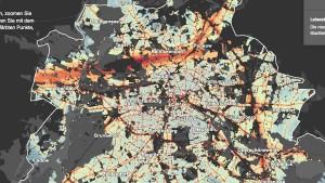 Carte du Bruit à Berlin