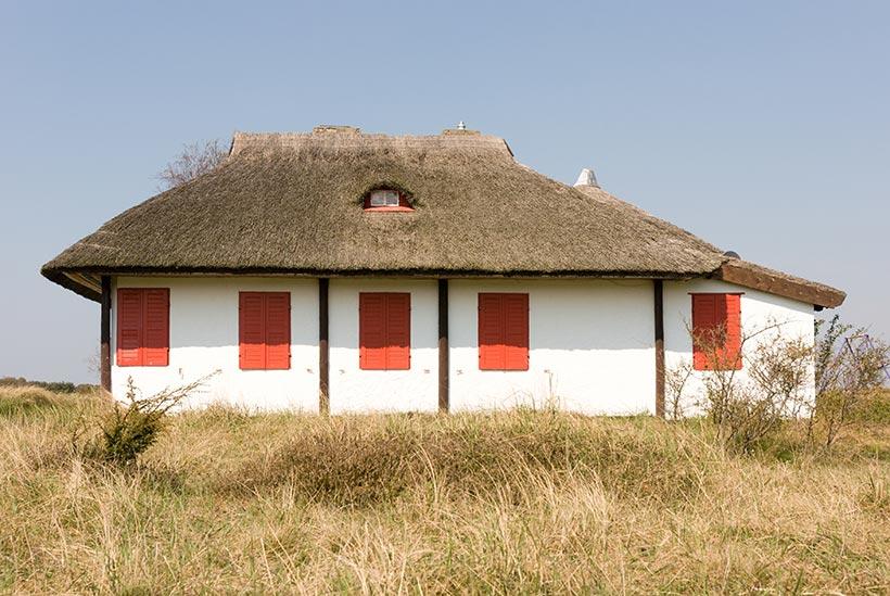 Habitat à HIddensee - Photo Didier Laget
