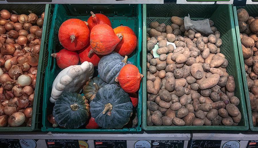 Fruits et légumes du mois d'octobre à Berlin