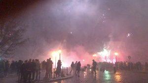 feu d'artfice du nouvel an à Berlin
