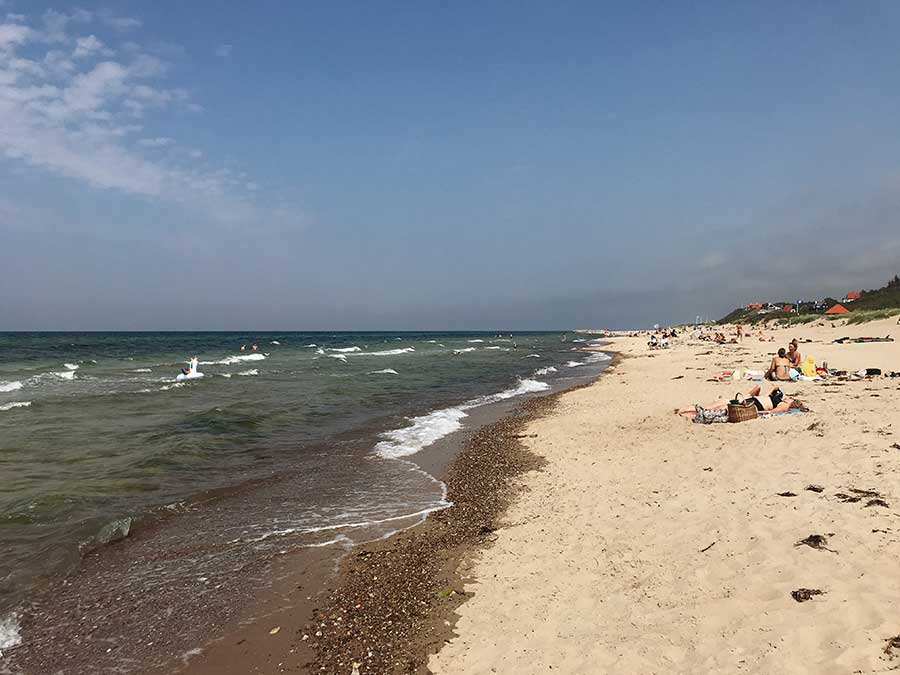 La plage de Rågeleje Strand