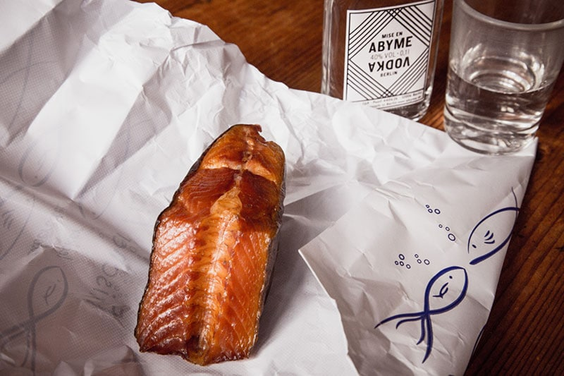 Le poisson fumé berlinois à la Vodka berlinoise - rcette et photo Didier Laget