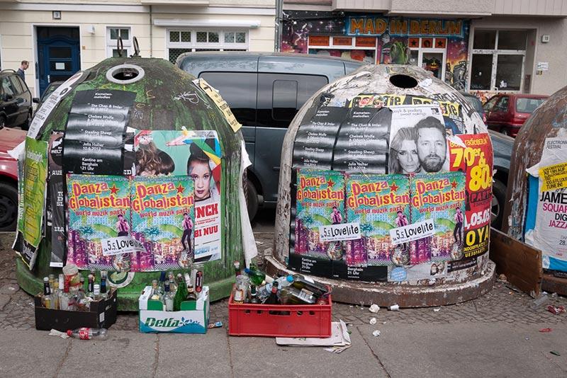 poubelles A berlin - Photo copyright Didier Laget