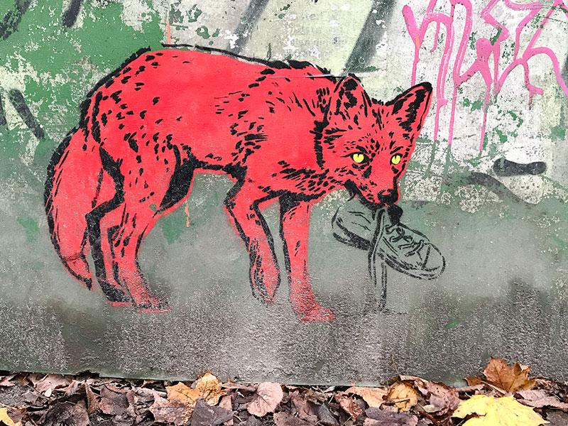 Renard graffiti - Photo Didier Laget