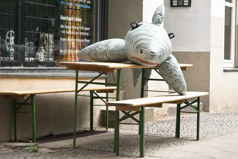 requin à Kreuzberg A berlin - Photo copyright Didier Laget