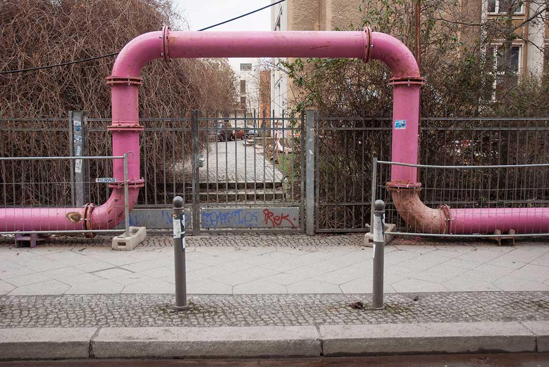 La linea en tuyaux rose